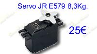 servo JR E579, 8,3kg.