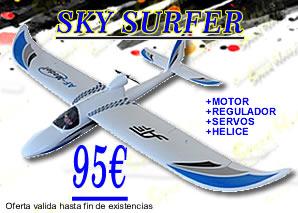 sky surfer, aeromodelismo, speed hobbys